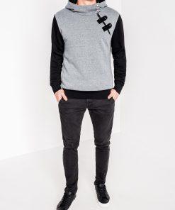 Tamsiai pilkos-juodos spalvos vyriškas džemperis vyrams internetu pigiau Paco 1974-2