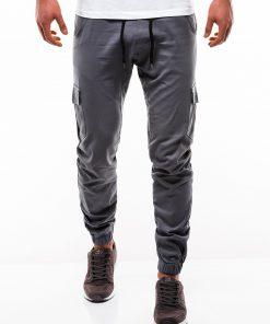 Pilkos jogger kelnės vyrams internetu pigiau P333 2181-3