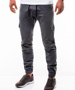 Pilkos jogger vyriškos kelnės internetu pigiau P333 2181-4