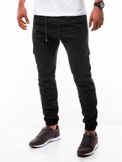 Juodos jogger vyriškos kelnės internetu pigiau P333 2184-5