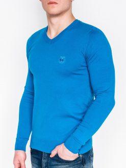 Vyriškas mėlynos spalvos megztukas internetu pigiau Ombre E74 2381-1