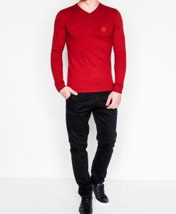 Raudonas vyriskas megztinis internetu pigiau Ombre E74 2382-2
