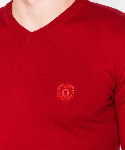 Raudonas megztinis vyrams internetu pigiau Ombre E74 2382-3