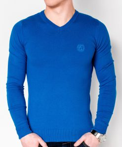 Sodriai mėlynas vyriškas megztinis internetu pigiau E74 2385-1