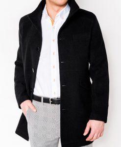 Stilingas juodas paltas vyrams internetu pigiau Victor C25 2396-1
