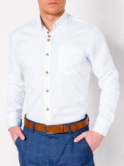 Balti vyriški marškiniai ilgomis rankovėmis internetu pigiau Soto K302 2546-1