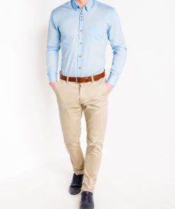 Šviesiai mėlyni vyriški marškiniai ilgomis rankovėmis internetu pigiau Soto K302 2547-2