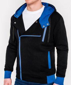 Juodas vyriškas džemperis su gobtuvu internetu pigiau B297 315-1