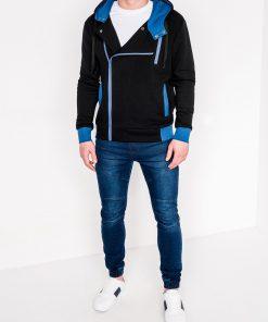 Juodas džemperis vyrams su gobtuvu internetu pigiau B297 315-2