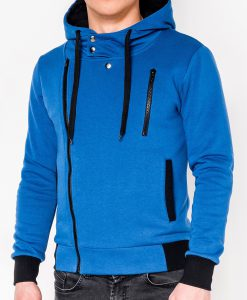 Mėlynas vyriškas džemperis su gobtuvu internetu pigiau B297 317-1