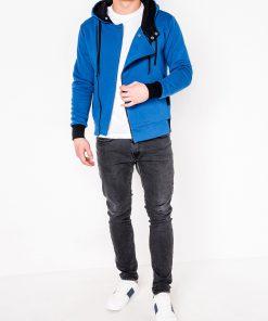 Mėlynas džemperis vyrams su gobtuvu internetu pigiau B297 317-2
