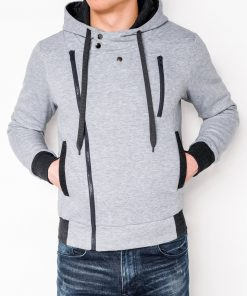 Pilkas vyriškas džemperis su gobtuvu internetu pigiau B297 318-1