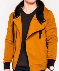 Rudas vyriškas džemperis su gobtuvu internetu pigiau B297 338-1