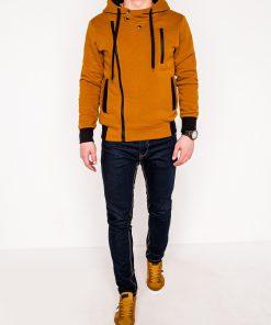 Rudas džemperis vyrams su gobtuvu internetu pigiau B297 338-5