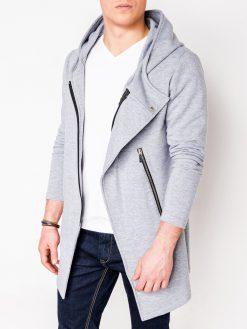 Pilkas vyriškas džemperis su gobtuvu internetu pigiau B668 Hugo 3897-1