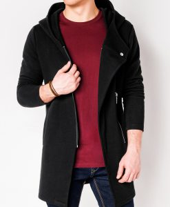 Juodas džemperis vyrams su gobtuvu internetu pigiau B668 Hugo 3898-1
