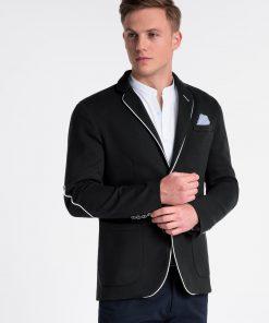 Juodas elegantiškas vyriškas švarkas bleizeris internetu pigiau Granato M81 4305-5