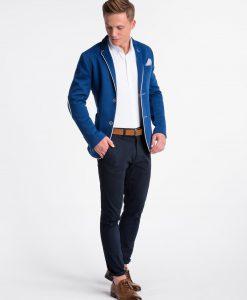 Mėlynas vyriškas švarkas bleizeris internetu pigiau Granato M81 4307-1