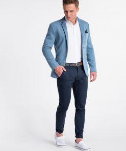 Šviesiai mėlynos spalvos vyriškas švarkas internetu pigiau ELIOT M80 4342-3