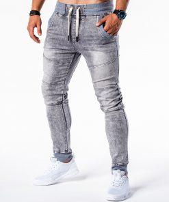 Pilki jogger vyriški džinsai internetu pigiau P551 5452