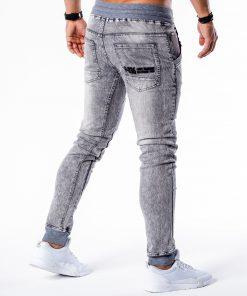 Pilki jogger džinsai vyrams internetu pigiau P551 5452-5