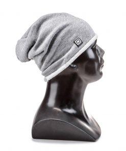 Vienspalvė pilka vyriška kepurė internetu pigiau H026 5593