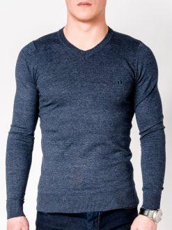 Tamsiai mėlynas melanžinis vyriškas megztinis internetu pigiau E74 5802-1