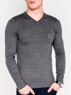 Tamsiai pilkas melanžinis džemperis vyrams internetu pigiau OmbreE74 5803-1
