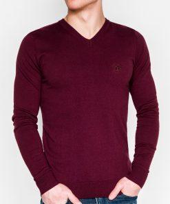Tamsiai raudonas vyriškas megztinis internetu pigiau Ombre E74 5806-1