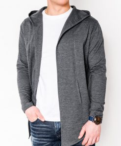 Pilkas vyriškas džemperis vyrams internetu pigiau Poison B702 5811-1