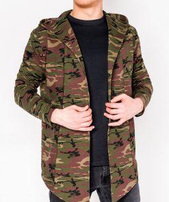 Žalias kamufliažinis vyriškas džemperis internetu pigiau B703 5813-1
