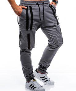 Pilkos jogger vyriškos kelnės internetu pigiau P671 7439-1