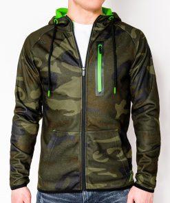 Žalias kamufliažinis vyriškas džemperis su gobtuvu internetu pigiau B747 7784-1
