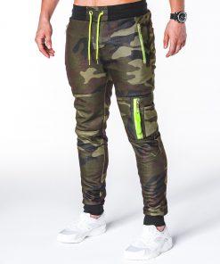 Stilingos žalios kamufliažinės sportinės kelnės vyrams internetu pigiau P658 7808