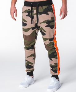 Stilingos žalios kamufliažinės sportinės kelnės vyrams internetu pigiau P704 7829