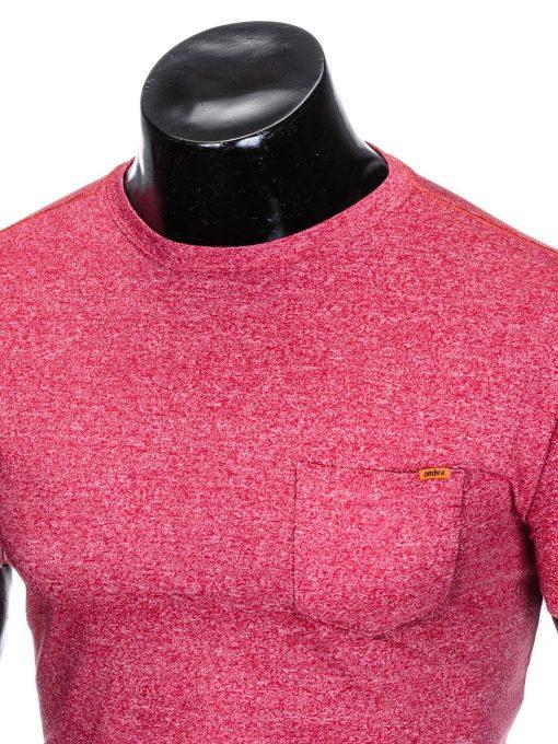 Raudoni vyriški marškinėliai internetu pigiau S885 8611-2