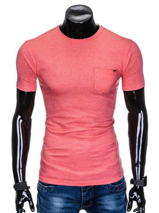 Koraliniai vienspalviai marškinėliai vyrams internetu pigiau S885 8613-1
