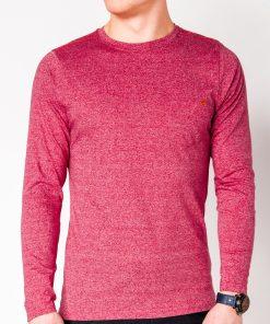 Raudoni marškinėliai vyrams ilgomis rankovėmis internetu pigiau Draf L103 8689