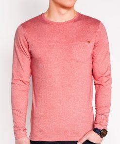 Koraliniai vyriški marškinėliai ilgomis rankovėmis internetu pigiau L103 8695