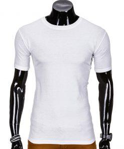 Vienspalviai balti marškinėliai vyrams S970 8863-1