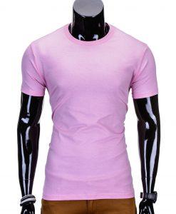 Vienspalviai rožiniai marškinėliai vyrams S970 8880-1