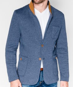Džinsinės spalvos vyriškas švarkas vyrams bleizeris vyrams internetu pigiau Swift M07 915-1