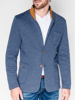Džinsinės spalvos vyriškas švarkas bleizeris vyrams internetu pigiau Swift M07 915-1