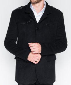 Stilingas juodas vyriškas paltas internetu pigiau Augustin C92 942-1
