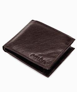 Ruda odinė vyriška piniginė internetu pigiau A090 9782-1