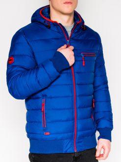 Mėlyna rudeninė-pavasarinė vyriška striukė internetu pigiau Dorsi C353 11217-1