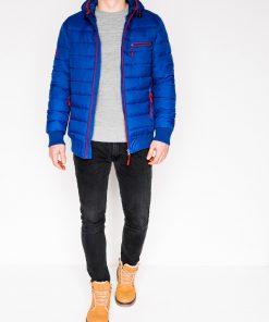Mėlyna žieminė vyriška striukė internetu pigiau Dorsi C353 11217-1