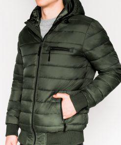 Chaki rudeninė-pavasarinė vyriška striukė internetu pigiau Dorsi C353 11218-1