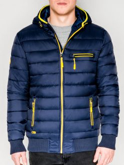Tamsiai mėlyna rudeninė-pavasarinė vyriška striukė internetu pigiau Dorsi C353 11219-1