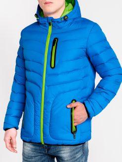 Mėlyna striukė vyrams pavasariui internetu pigiau Dexter C356 11243-1
